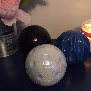Decorative Ceramic Orbs